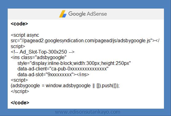 Amankan kode adsense dengan tag